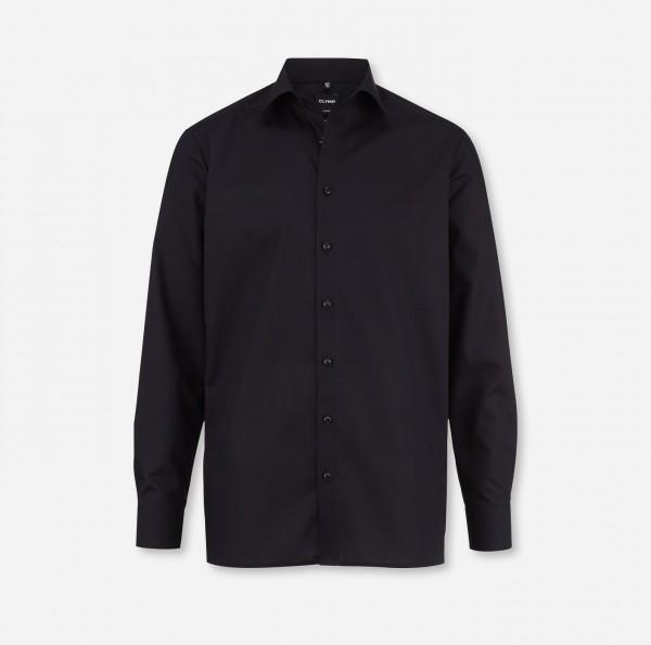 OLYMP Luxor, modern fit, New York Kent, schwarz, ohne Brusttasche