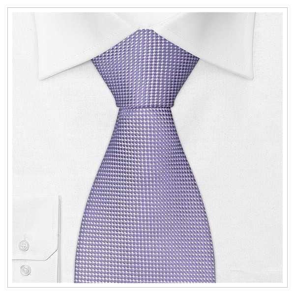 XL - KRAWATTE, Überlänge, violett/weiß