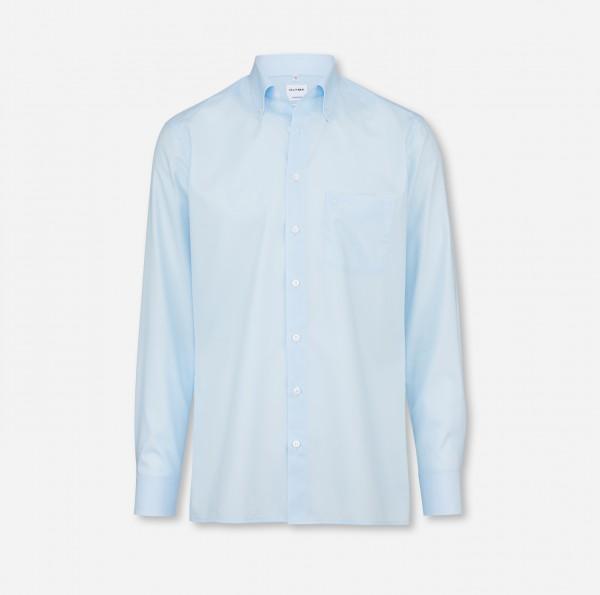 OLYMP Tendenz, modern fit, Button-down, Hellblau, Uni