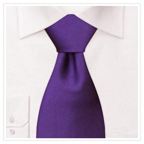 XL - KRAWATTE, Überlänge, violett, uni