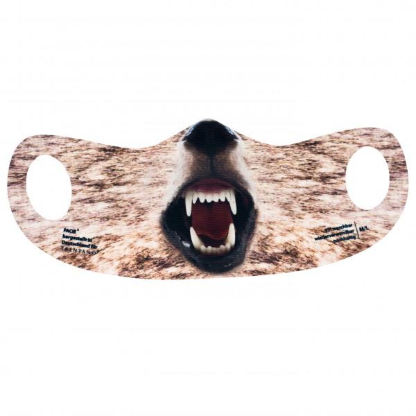 Bild Maske, Mund-Nasen-Bedeckung, Motiv WOLF, Jäger, Jagd, KIDS-MASKE, Jagdsport, Schutzmaske, Corona-Maske, FACIE, Masken, Motiv-Maske, bedruckte Masken.