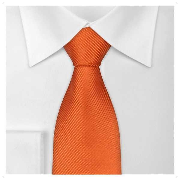 XL - KRAWATTE, Überlänge, orange_uni