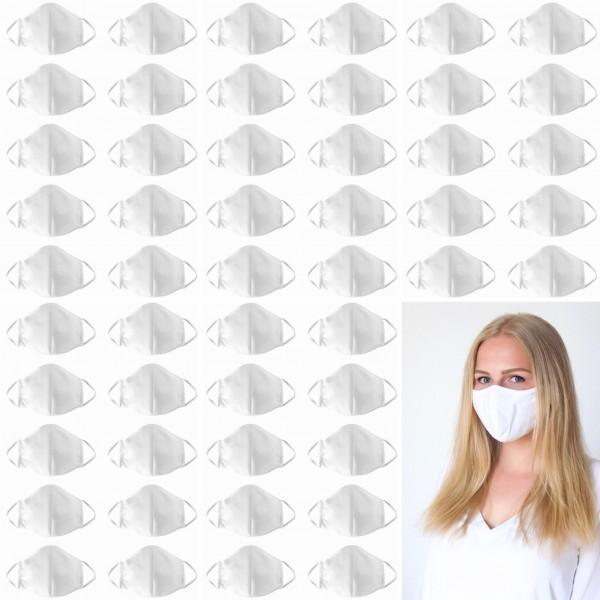 100 Stk. wiederverwendbare Premium Mund-Nasen-Bedeckungen, 3-lagig, Marke Seidensticker