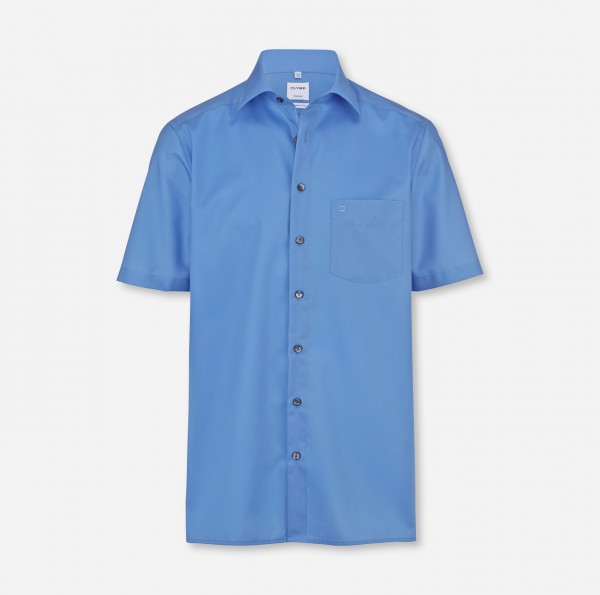 OLYMP Tendenz, modern fit, New Kent, Kurzarm. Blau