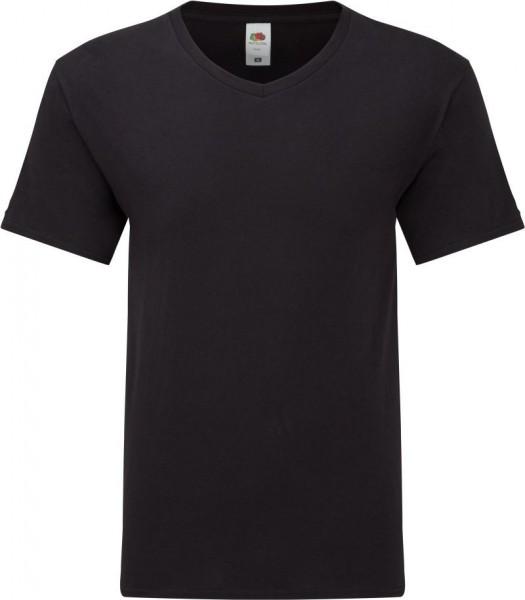 Iconic 150 V-Neck T-Shirt Herren, 2er Pack-schwarz