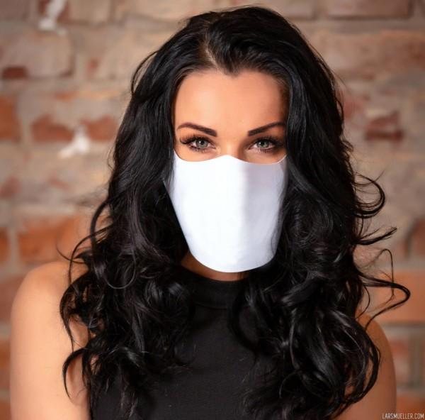 Facie, Maske, Mund-Nasen-Bedeckung, weiß, Alltagsmaske für Apotheker