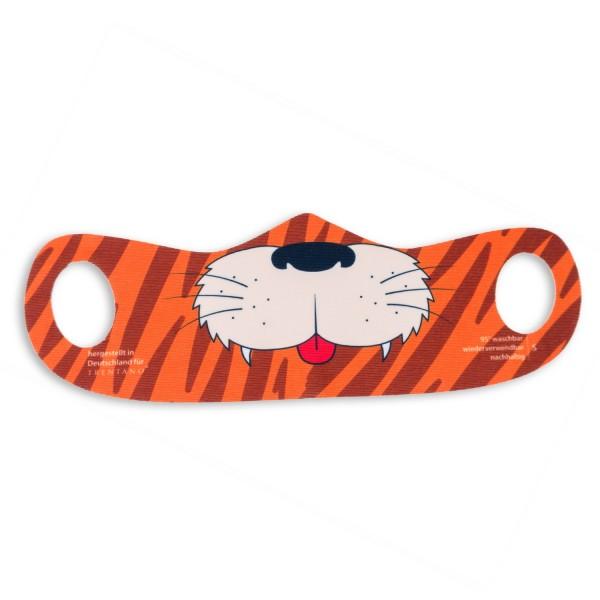 Maskenmodell FACIE®, bedruckte Kindermaske, Motiv Tiger