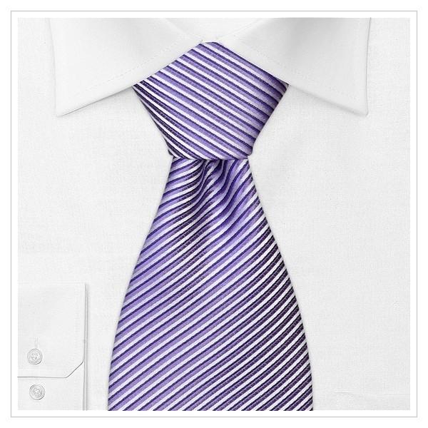 XL - KRAWATTE, Überlänge, violett/silber