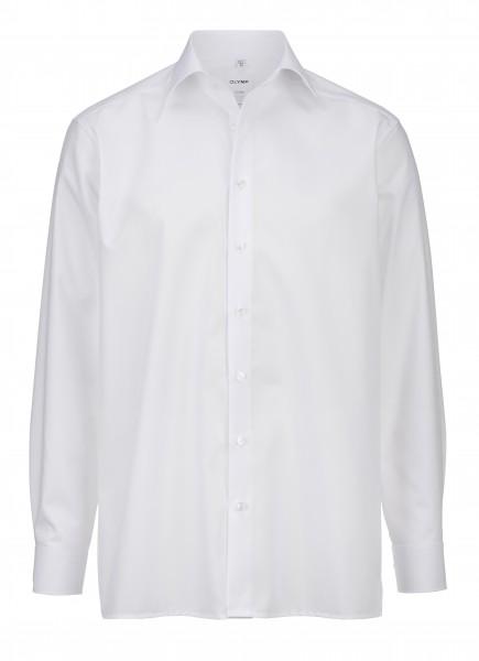 OLYMP Luxor, Comfort fit, New Kent, weiß, ohne Brusttasche