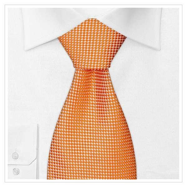 6075_KRAWATTEN, NEU, weiß/orange
