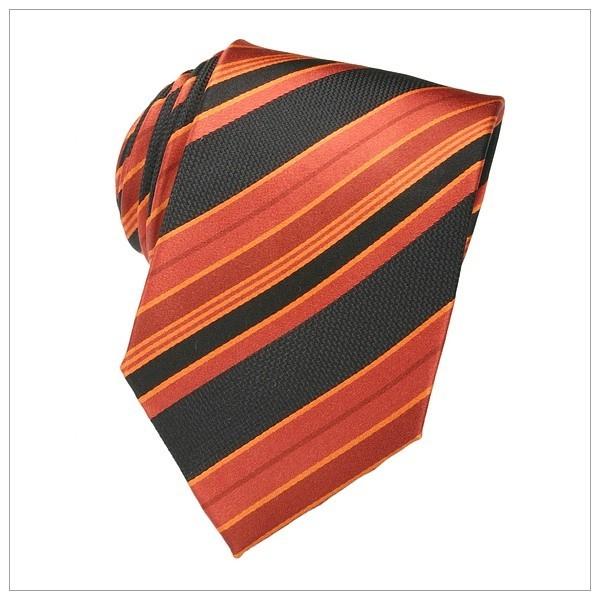 6068_KRAWATTEN, NEU, orange/schwarz gestreift