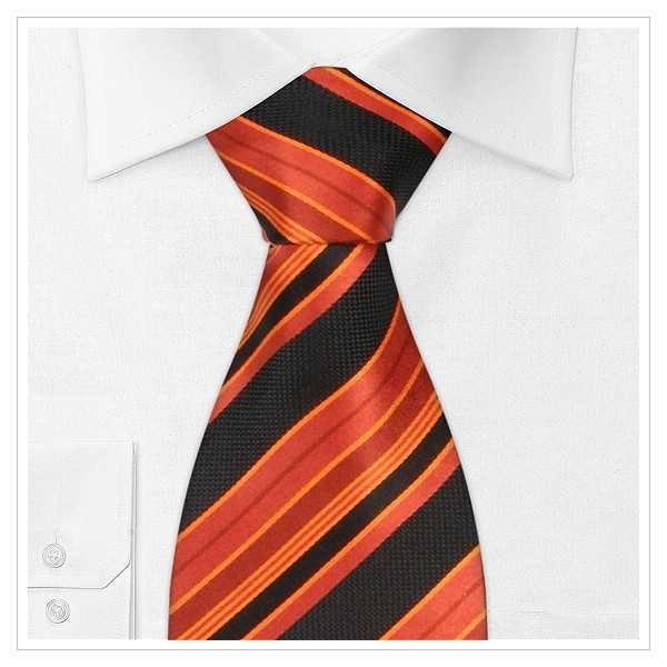 XL - KRAWATTE, Überlänge, orange/schwarz
