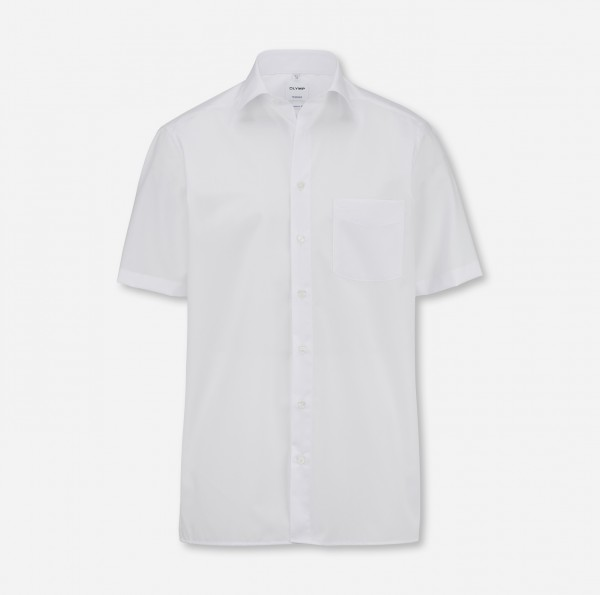 OLYMP Tendenz, modern fit, New Kent, Kurzarm, Weiß