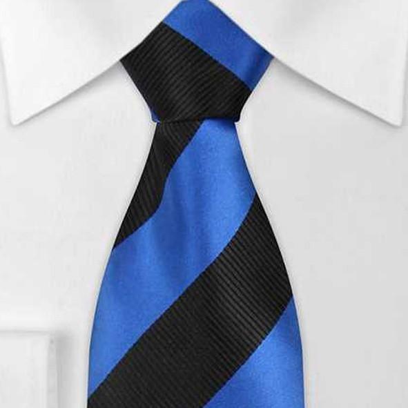 XL - KRAWATTE, Krawatte in Überlänge hellblau/dunkelblau