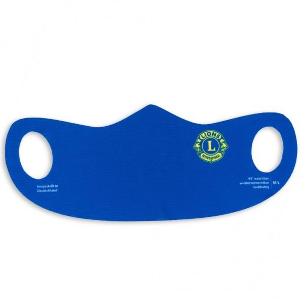 bedruckte Logomaske Lions, Lionsmaske, Lionsclub, Lionsinternational