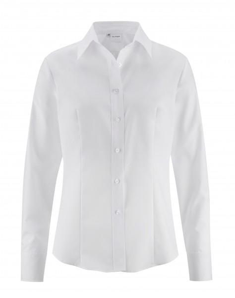 OLYMP Tendenz, Comfort fit, Lucca Kragen, Langarm, Weiß