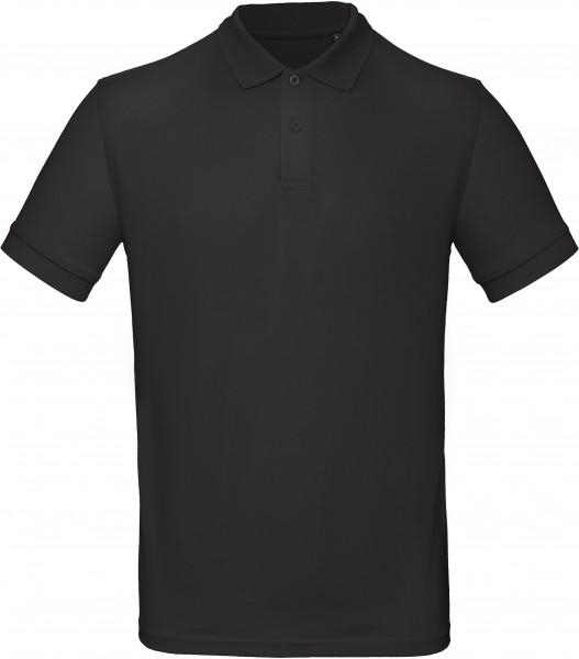 Herren Bio Piqué Polo, schwarz