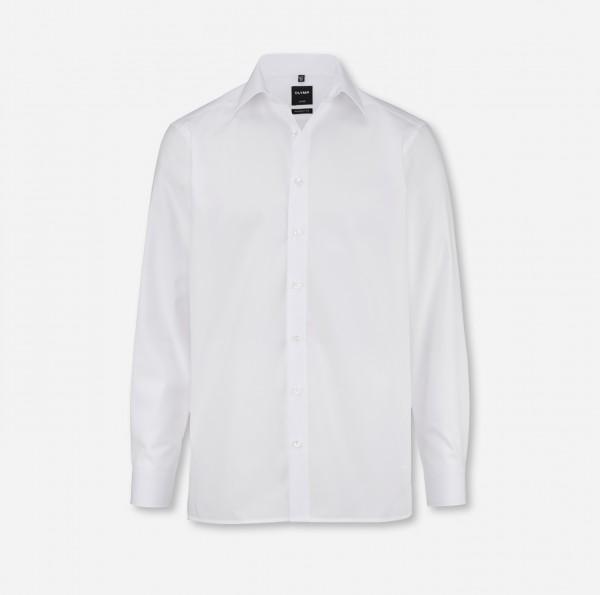 OLYMP Luxor, modern fit, New York Kent, weiß, ohne Brusttasche