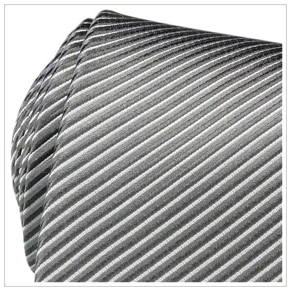 XL - KRAWATTE, Überlänge, weiß/grau/dunkelgrau gestreift