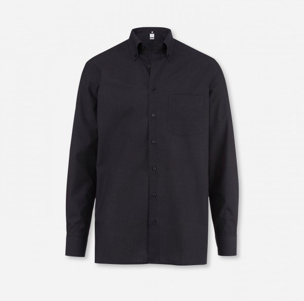 OLYMP Tendenz, modern fit, Button-down, Anthrazit, Fil à Fil