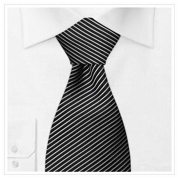 XL - KRAWATTE, Überlänge, weiß/schwarz